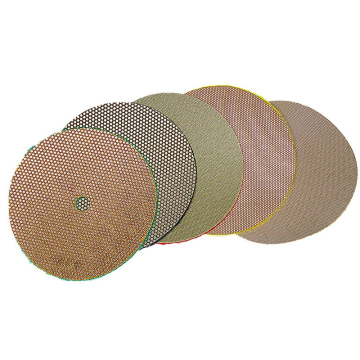 3M 5 Inch Velcro Backed Electroplated Diamond Disk Set