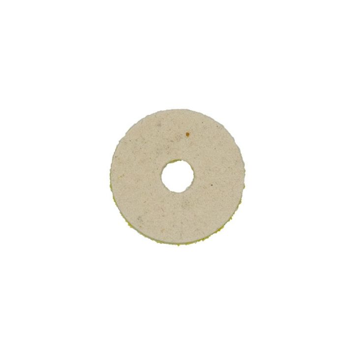 2 inch natural wool felt polishing pad with velcro backing