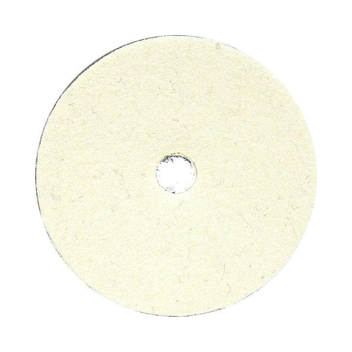 4 Inch Natural Wool Felt Velcro Backed Polishing Disk