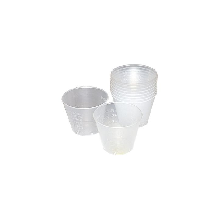 1 Ounce Plastic Mixing Cups - 10 Pack