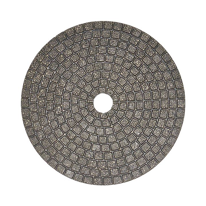 4 Inch Velcro Backed 60 Grit Ceramica Diamond Pad