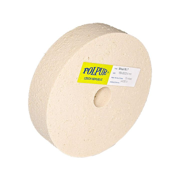 6 Inch Flat Edged Polpur MJ Pumic Wheel