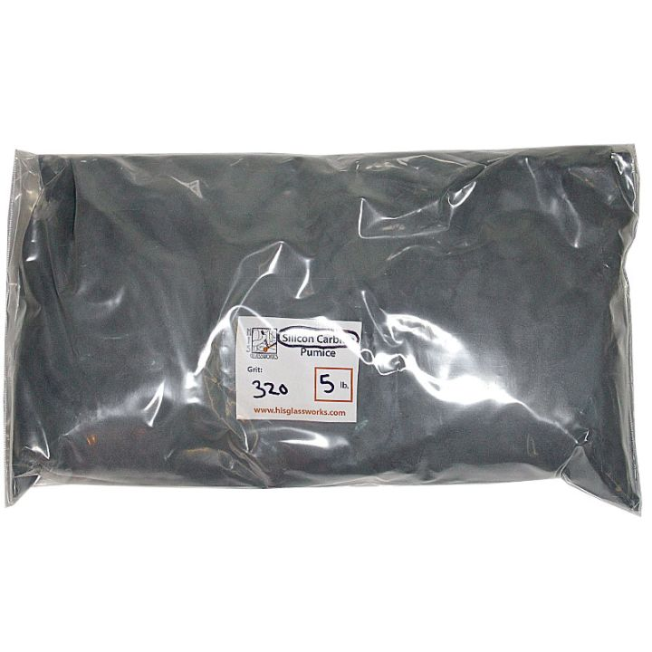 5 Pounds 320 Grit Graded Silicon Carbide