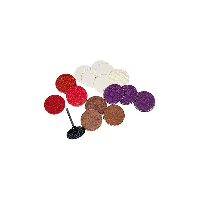1 Inch  Velcro Backed Smoothing Disk Kit