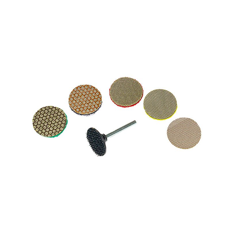 3M 1 Inch Velcro Backed Diamond Disk Set
