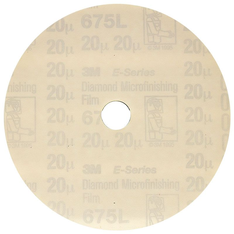 3M 5 Inch Velcro Backed 600 Grit Electrostatic Diamond Disk