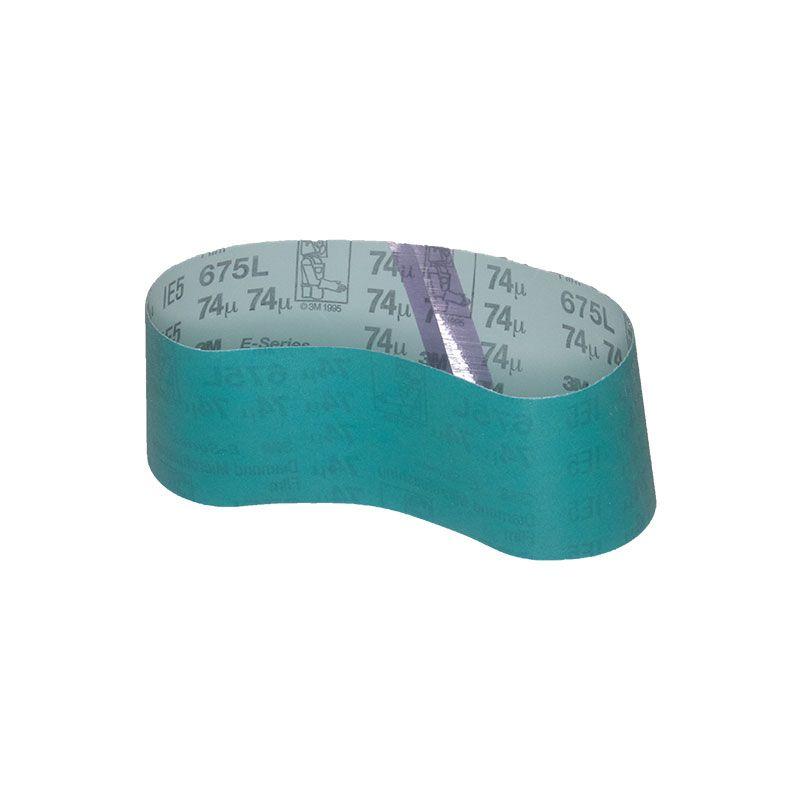 2-1/2 Inch x 18-13/16 Inch 3M 675L Electrostatic Belt 200 Grit