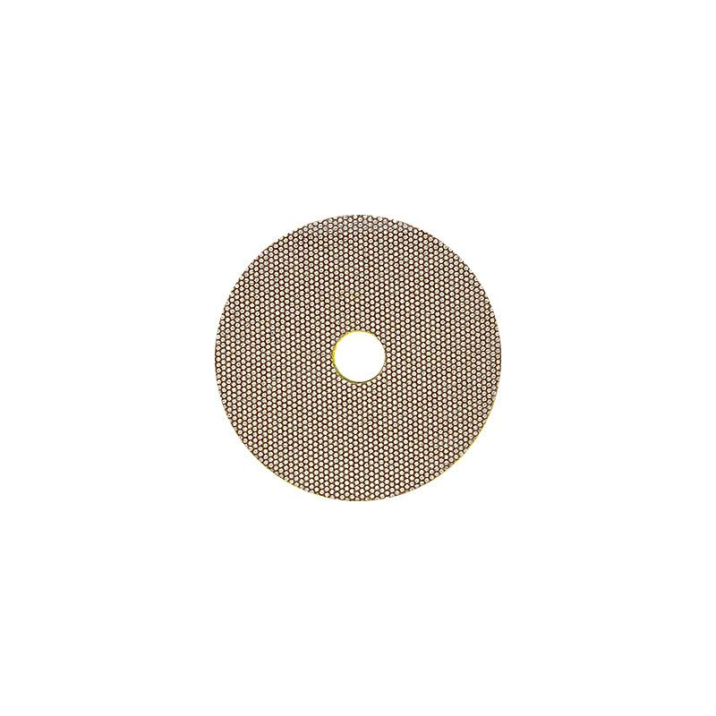 3M 2 Inch Velcro Backed 400 Grit Electroplated Diamond Disk