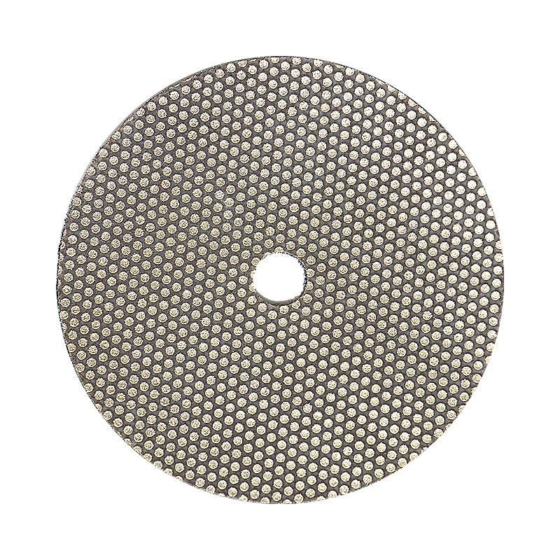 3M 4 Inch Velcro Backed 120 Grit Electroplated Diamond Disk
