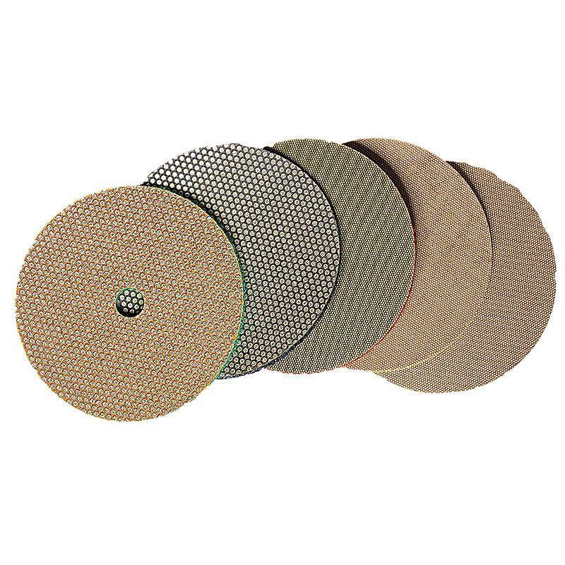3M 4 Inch Velcro Backed Electroplated Diamond Disk Set