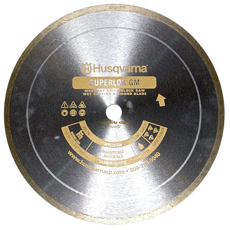 Husqvarna 14 Inch x .095 x 1 inch GM Superlok Slabbing Blade