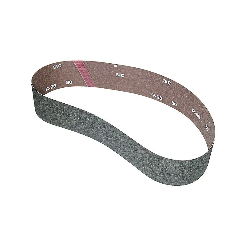 3 Inch x 41-1/2 Inch 80 Grit Silicon Carbide Belt