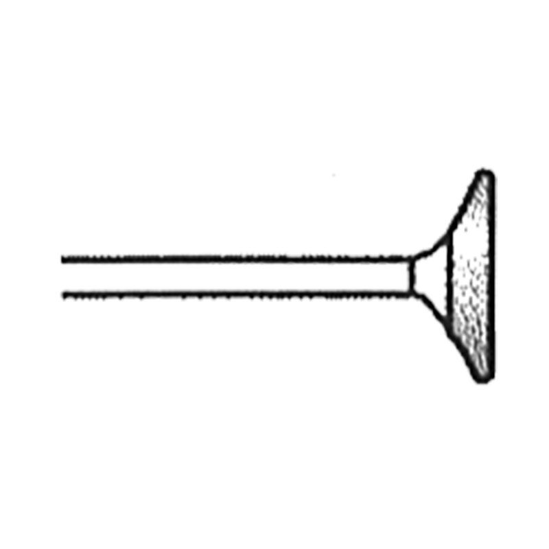 Valvehead 0.50 Inch Tip 120 Grit Diamond Point with 1/8 Inch Shank