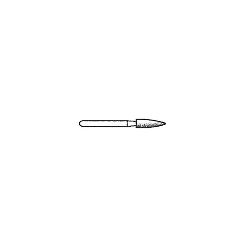 Short Flame 0.6mm Tip 260 Grit Diamond Point with 1/16 Inch Shank