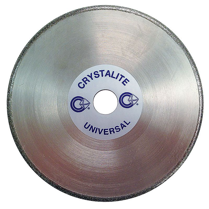 6 Inch x 3/8 Inch Full Circle 100 Grit Electroplated Diamond Wheel