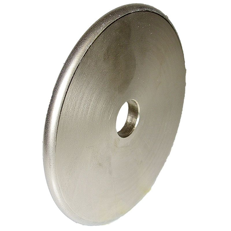 6 Inch x 3/8 Inch Full Circle 600 Grit Electroplated Diamond Wheel