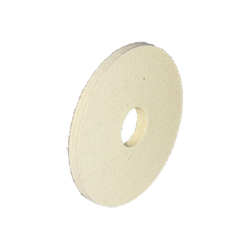 4 Inch x 1/4 Inch Straight Edged Wool Felt Wheel with 1 Inch Arbor Hole