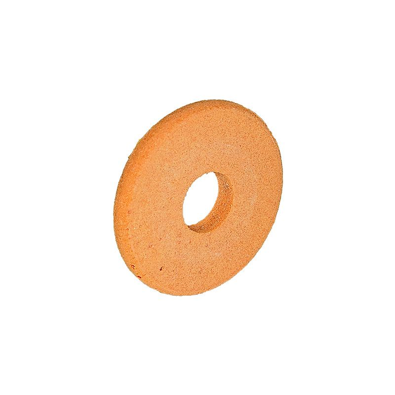 3 Inch x 3/8 Inch Full Circle (Olive Cut) Orange Polpur Wheel