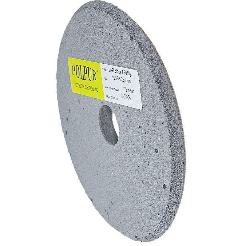 6 Inch x 3/8 Inch Polpur Lapi-T Black V-Wheel