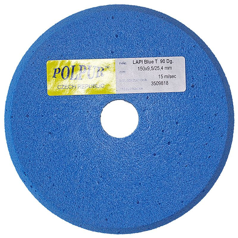6 Inch x 3/8 Inch Polpur Lapi-T Blue V-Wheel
