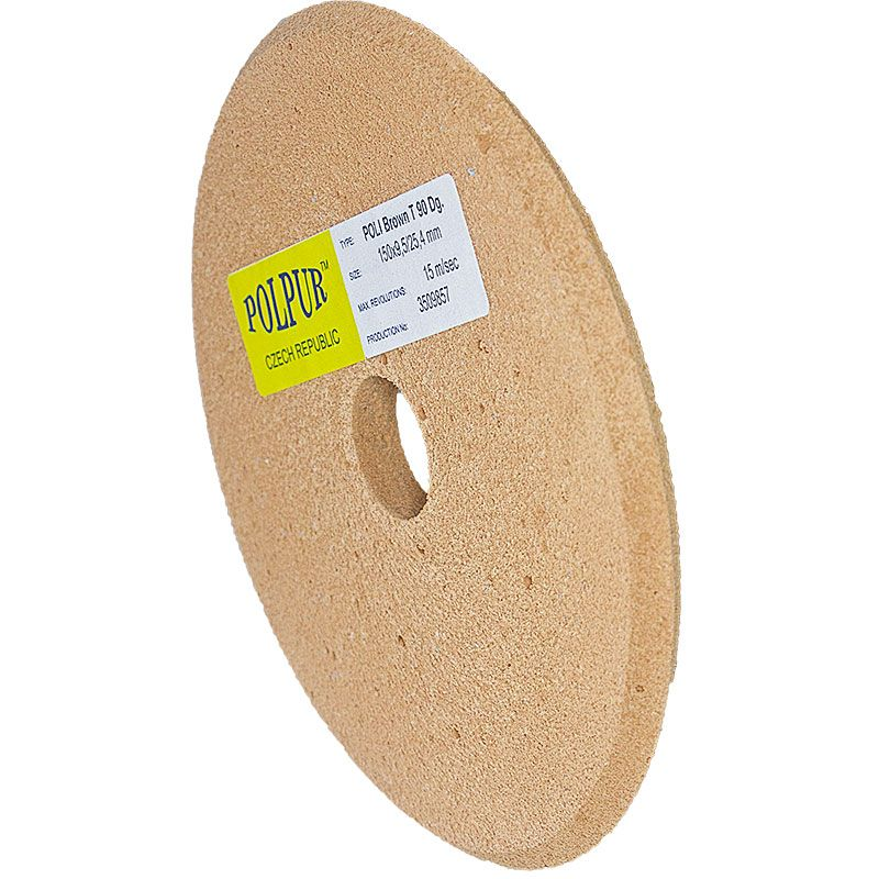 6 Inch x 3/8 Inch Polpur Lapi-T Brown V-Wheel