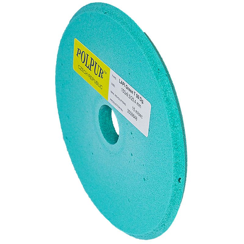 6 Inch x 3/8 Inch Polpur Lapi-T Green V-Wheel