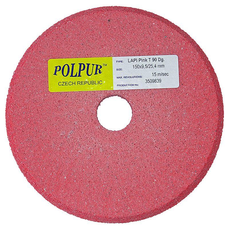 6 Inch x 3/8 Inch Polpur Lapi-T Pink V-Wheel