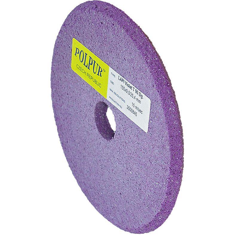 6 Inch x 3/8 Inch Polpur Lapi-T Violet V-Wheel
