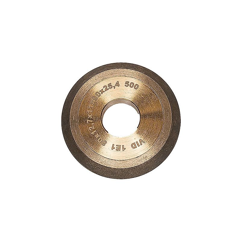 3 Inch x 1/2 Inch V Groove (Miter) 90 Degree Wheel 500 Grit