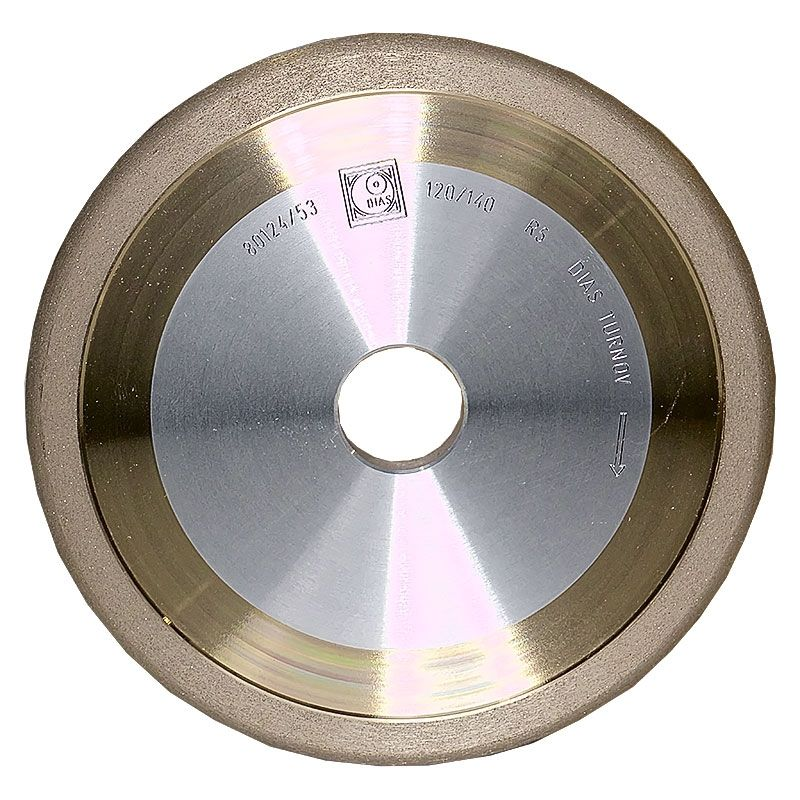 6 Inch x 3/8 Inch 120 Grit Sintered Diamond Full Circle Wheel