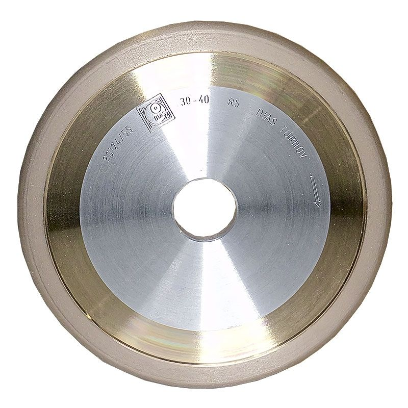 6 Inch x 3/8 Inch 400 Grit Sintered Diamond Full Circle Wheel
