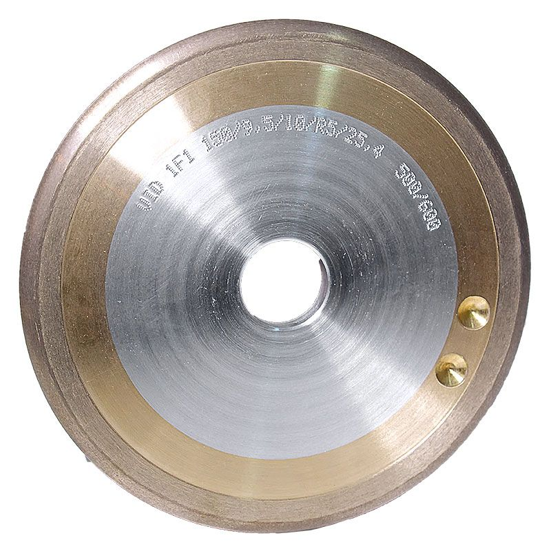 6 Inch x 3/8 Inch 500 Grit Sintered Diamond Full Circle Wheel