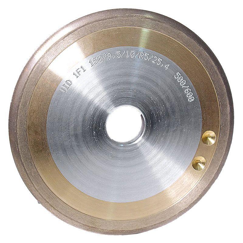 6 Inch x 3/8 Inch 230 Grit Sintered Diamond Full Circle Wheel