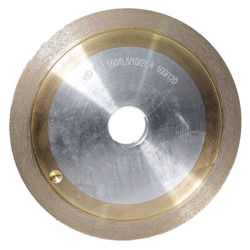 6 Inch x 3/8 Inch 100 Grit Sintered Diamond Straight Edge Wheel
