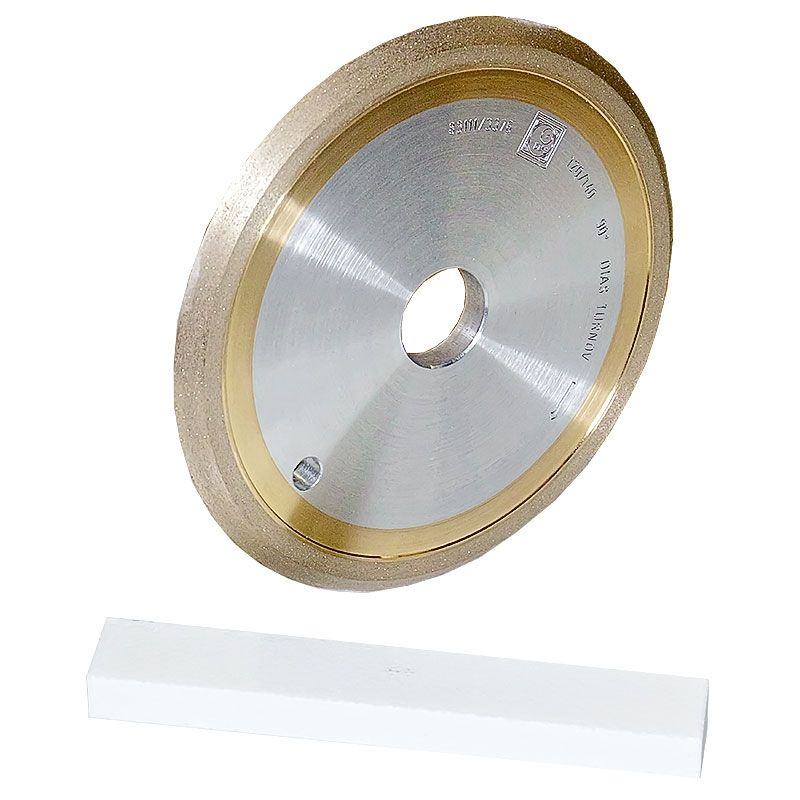 6 Inch x 3/8 Inch 120 Grit Sintered Diamond V-Wheel