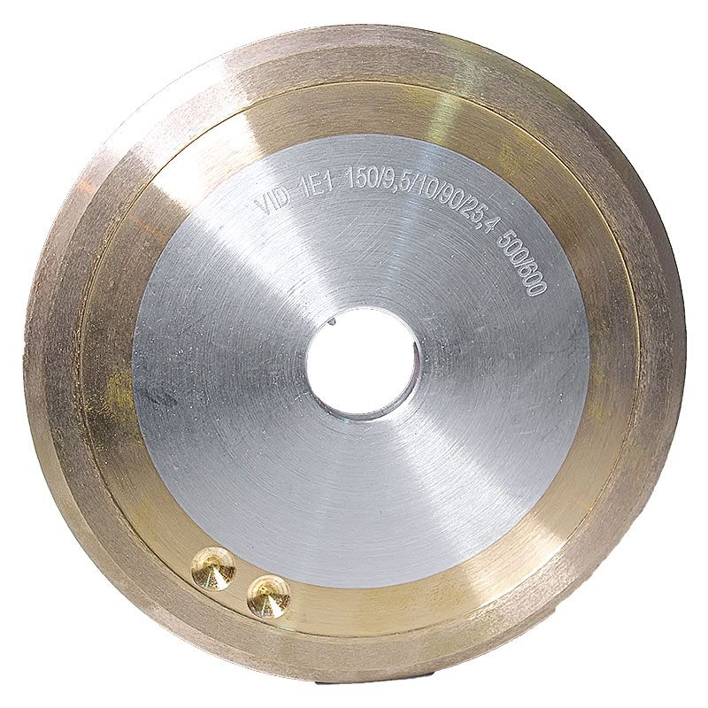 6 Inch x 3/8 Inch 500/600 Grit Sintered Diamond V-Wheel