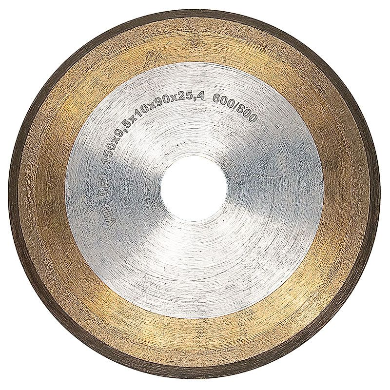 6 Inch x 3/8 Inch 600/800 Grit Sintered Diamond V-Wheel