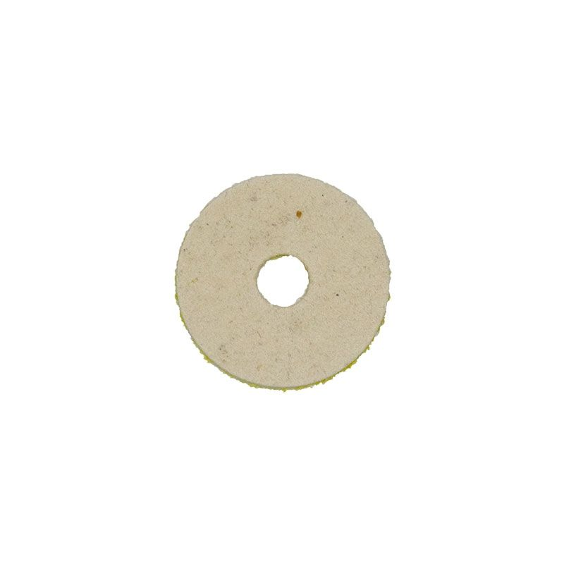2 Inch Natural Wool Felt Velcro Backed Polishing Disk