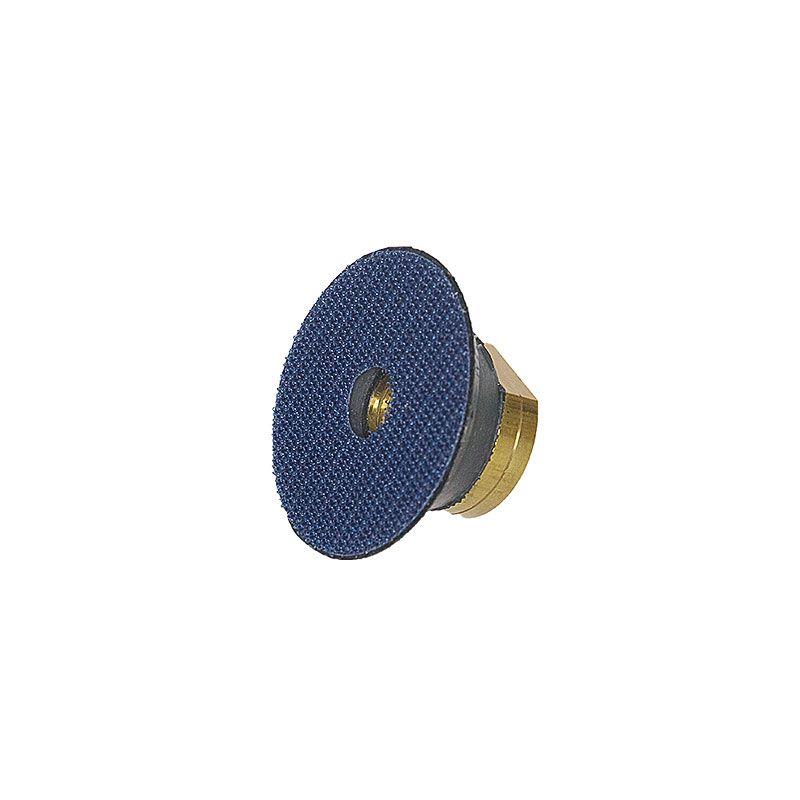 2 Inch 5/8-11 Threaded Velcro Backed Rubber Backer Pad