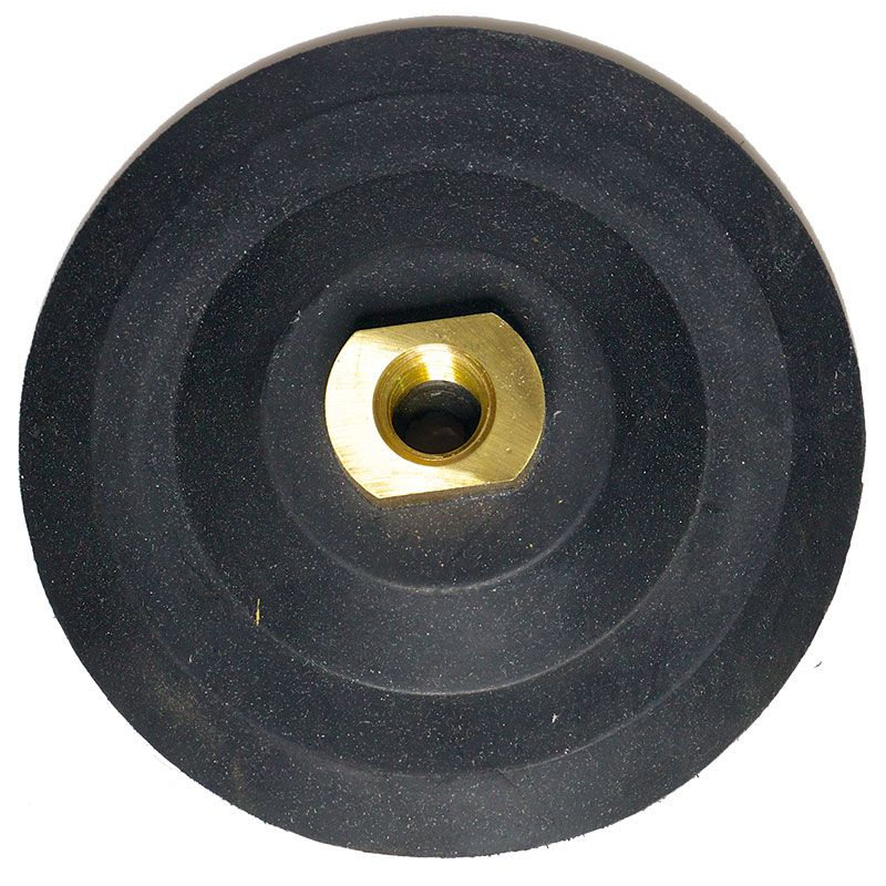 5 inch 5/8-11 Threaded Velcro Backed Rubber Backer Pad