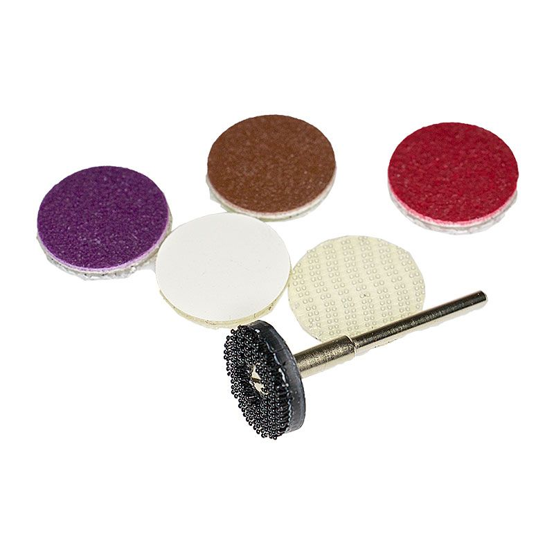 1 Inch Diamond Resin Smoothing Disk Dual Lock Attachment Kit