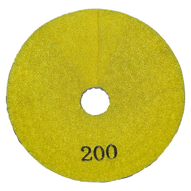 4 Inch 200 Grit Convex Diamond Pad