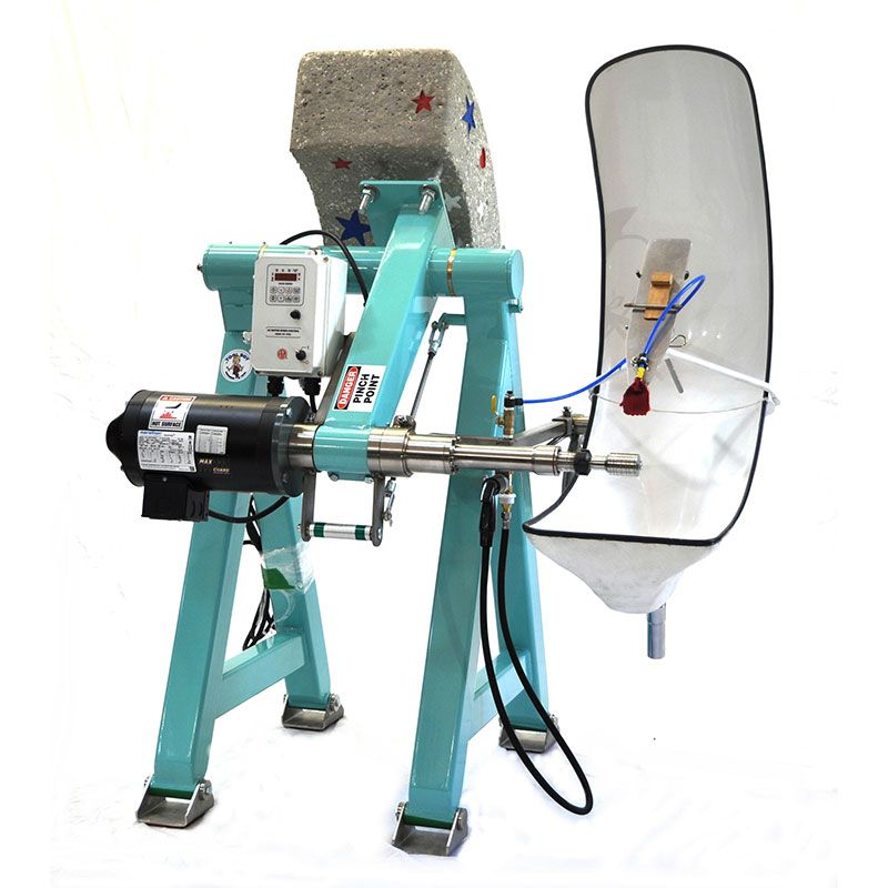 Height Adjustable Glass Lathe with Straight 1 inch Shaft- UL CERTIFIED with emergency stop