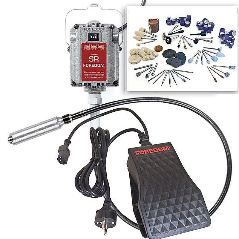 Foredom 220V/50Hz SR Motor CE certified 1/6HP Flexible Shaft Craft Kit