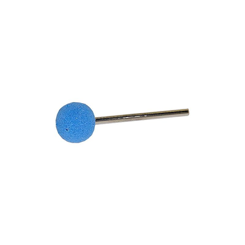 1/2 Inch Polpur Lapi-T Blue Ball Shaped Point on 1/8 Inch Mandrel
