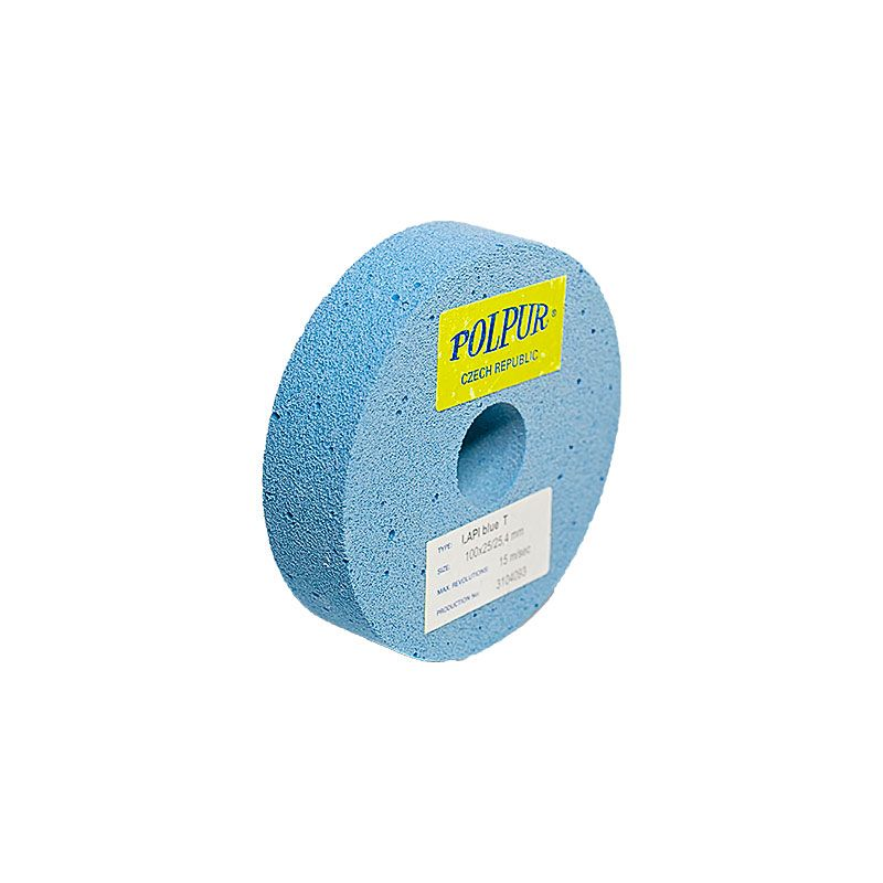 4 Inch Flat Edged Polpur Lapi-T Blue Wheel