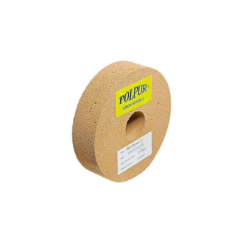 4 Inch Flat Edged Polpur Lapi-T Brown Wheel