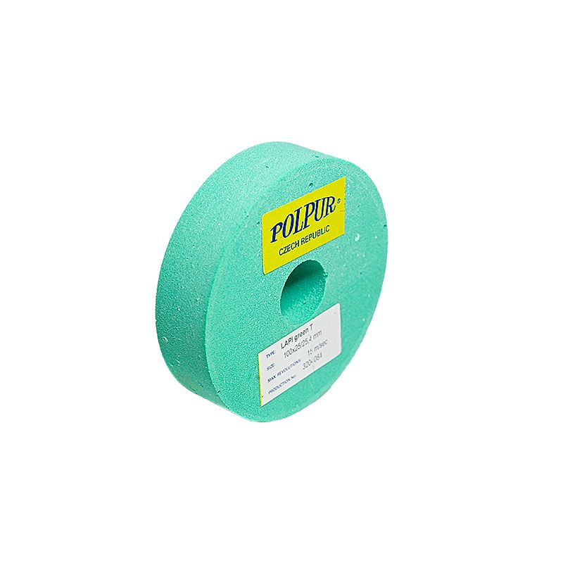 4 Inch Flat Edged Polpur Lapi-T Green Wheel