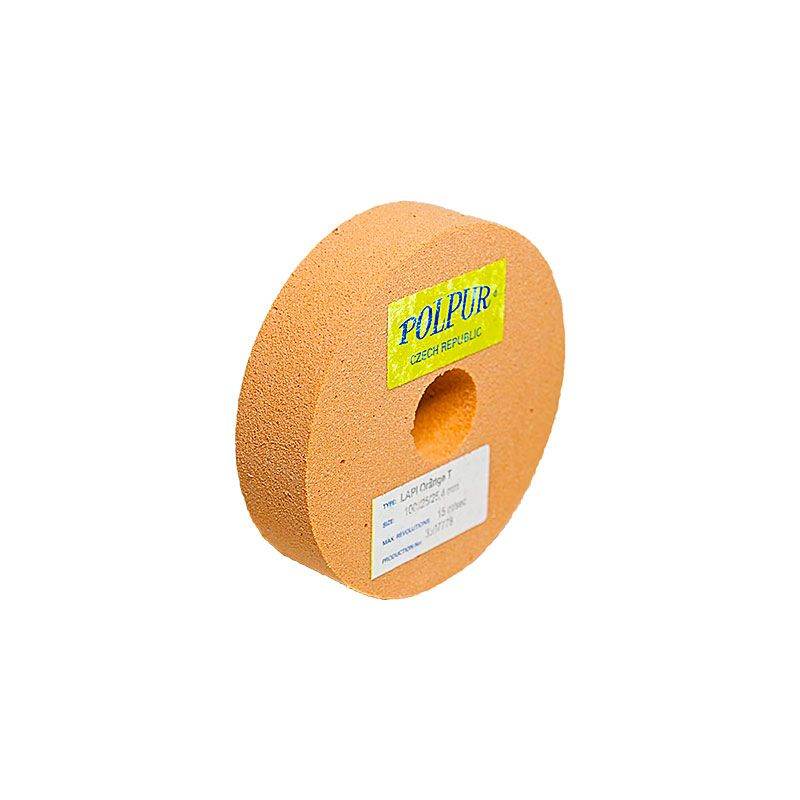 4 Inch Flat Edged Polpur Lapit-T Orange Wheel
