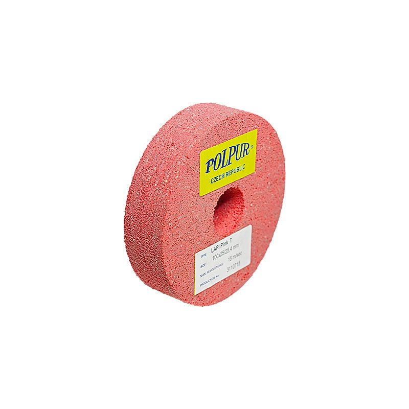 4 Inch Flat Edged Polpur Lapi-T Pink Wheel